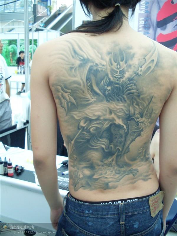 菩萨纹身图片   成都黑旗刺青为你解说普贤菩萨纹身图案的   高清图片