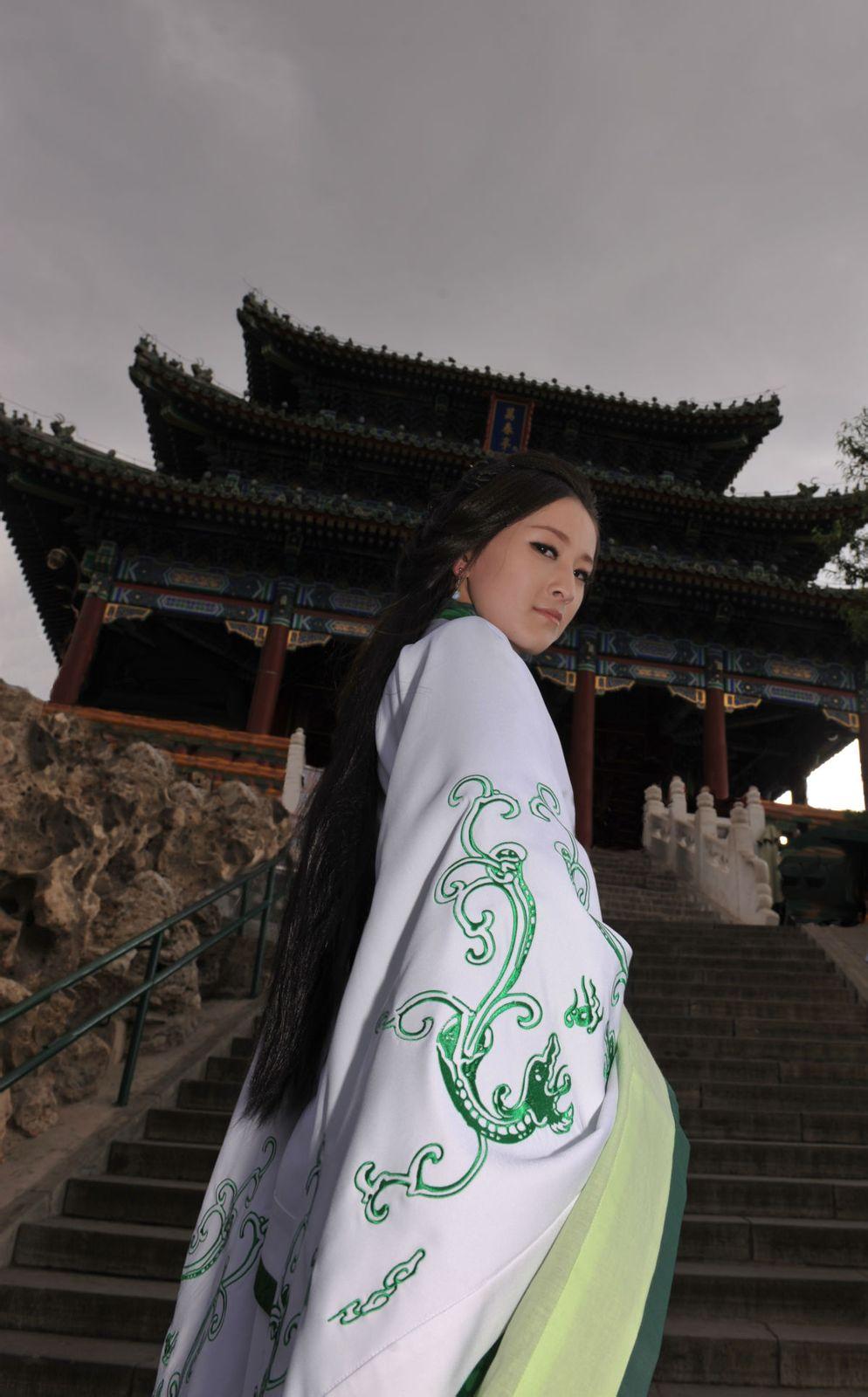 华文明的汉服美女吗?