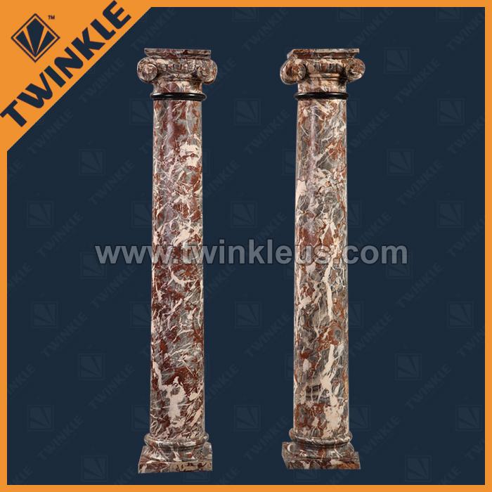 大理石地面拼花 墙面干挂 罗马柱 欧式壁炉 北京装修装饰 西祠胡同