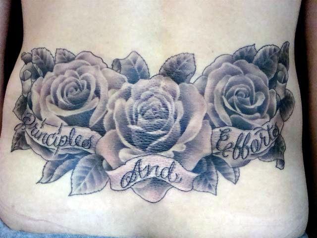 玫瑰花素材分享_大连纹身吧图片