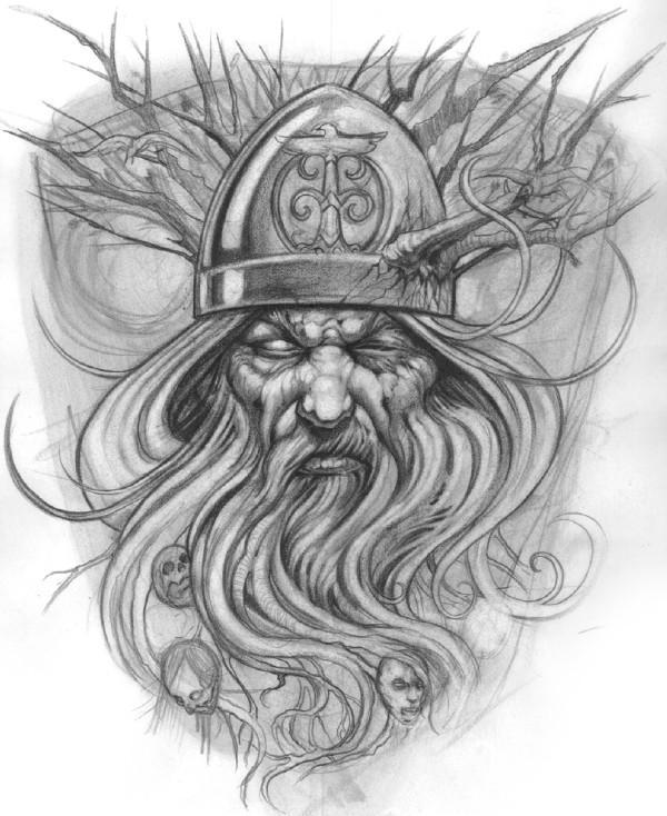 佛头纹身笔手稿分享展示图片