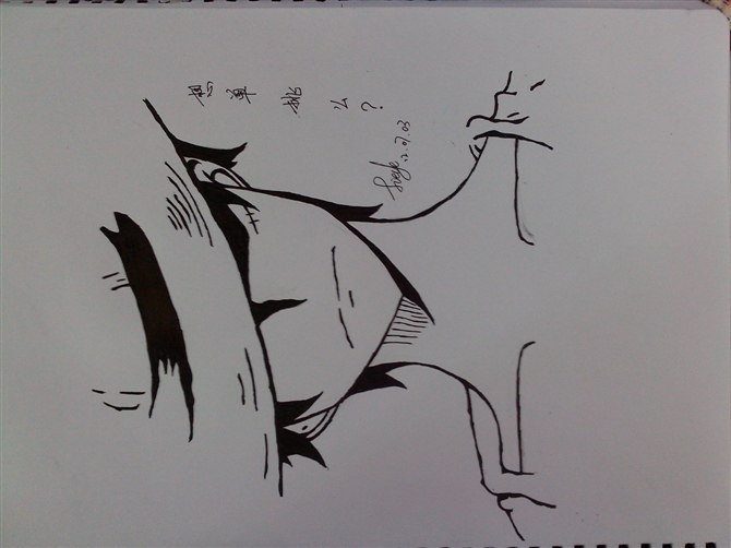 手绘海贼王素描图片