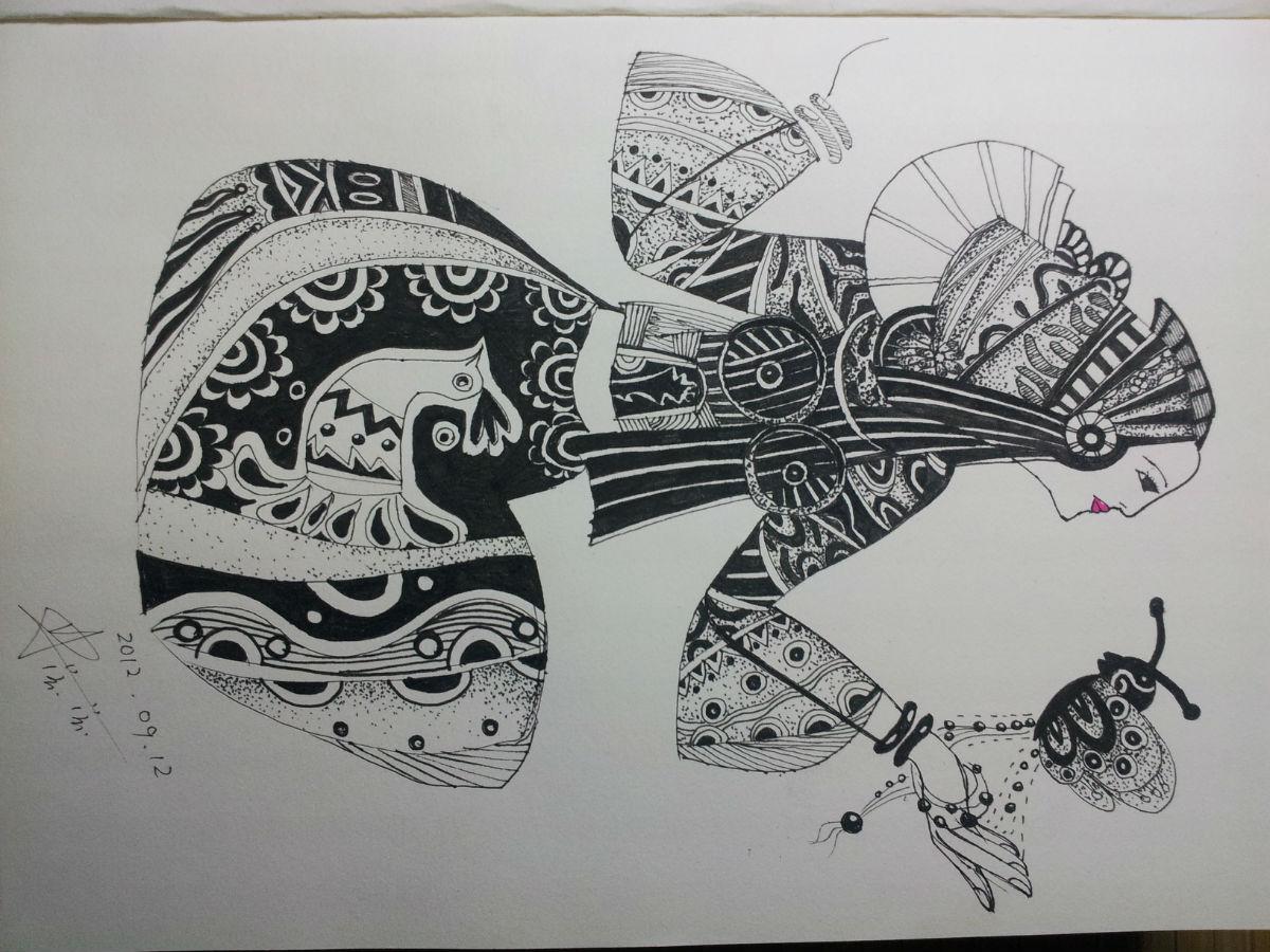黑白装饰画花卉图片图片
