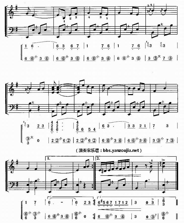 求《朋友再见》曲谱_手风琴吧图片