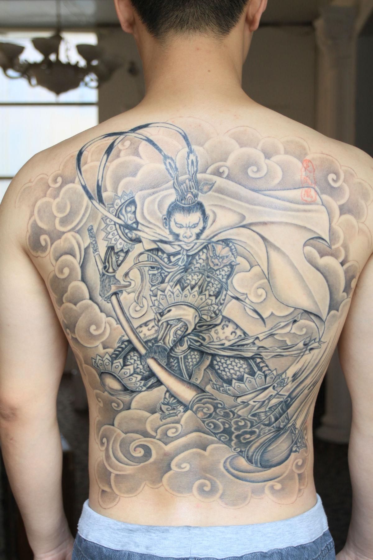 纹身纹凤凰图案分享展示图片