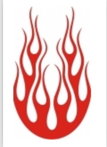 燃着火焰的绿色麒麟纹身手稿图片