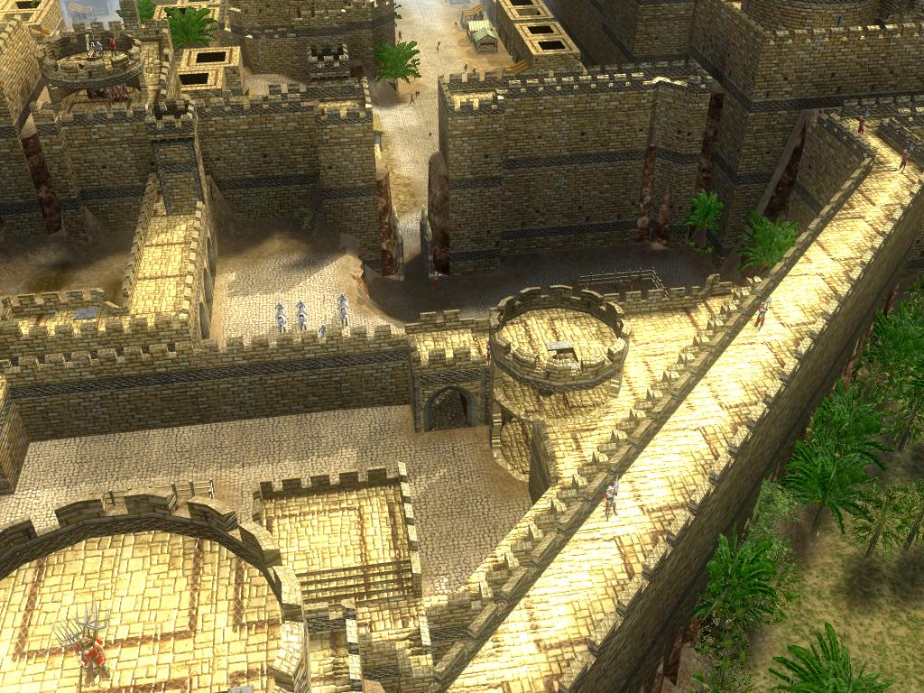 小瓮城夹击.这一侧耸立着大卫塔城堡,俯颔着这个重要入口.高清图片