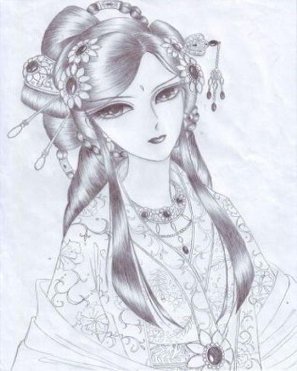 重发:我自己画的一张美女图图片乳美女微博巨图片