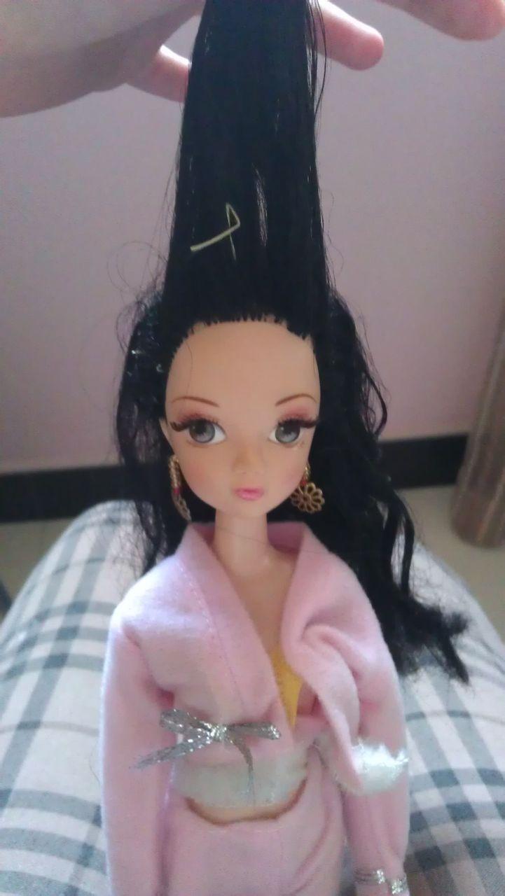 可儿娃娃古装头发教程图解分享展示图片