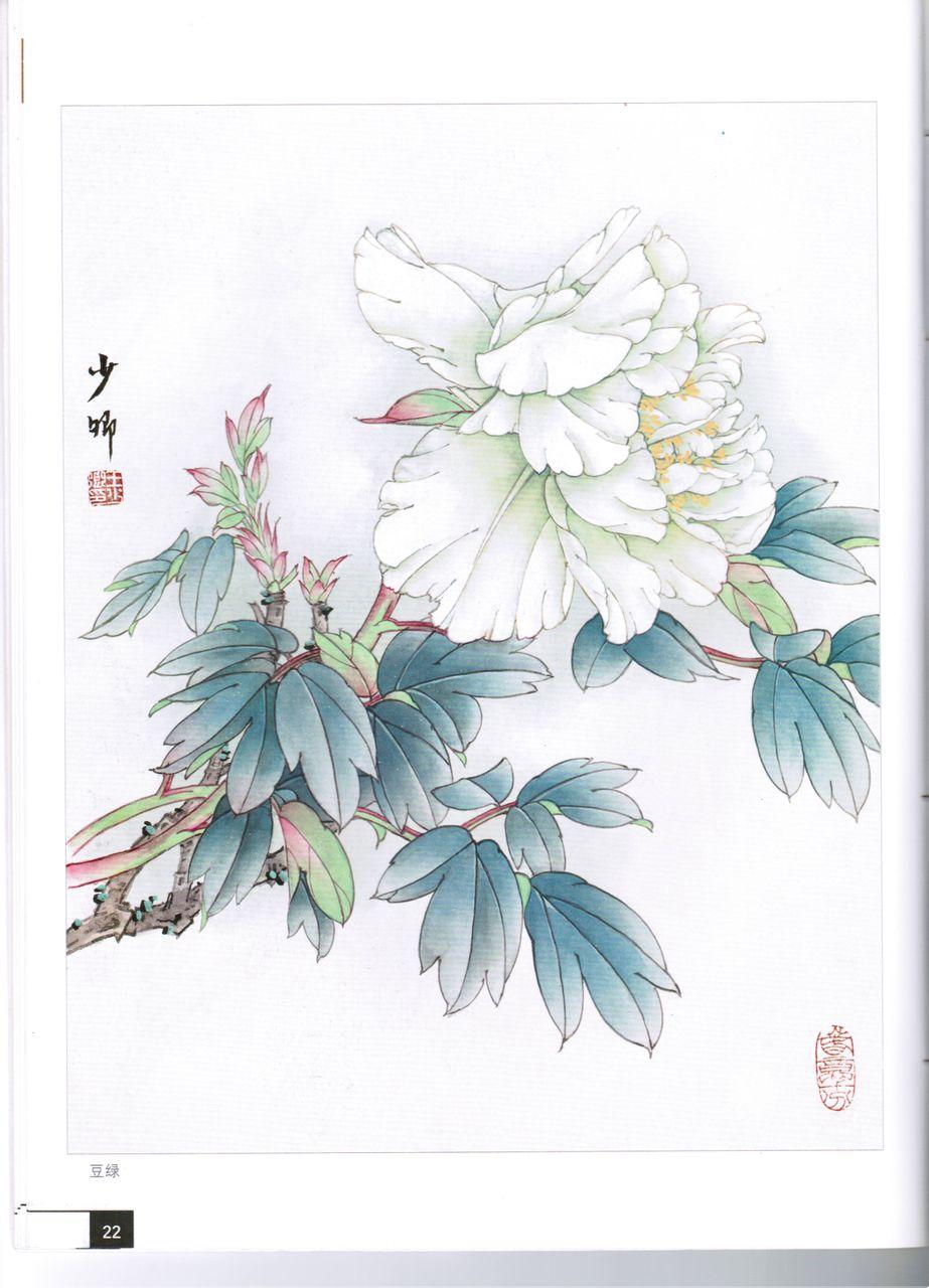 牡丹花纹身手稿图库分享展示图片
