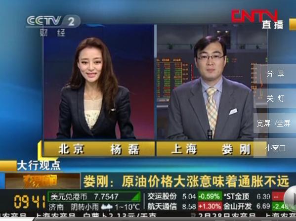 中央二台财经节目环球经济连线美女主持人照片大全