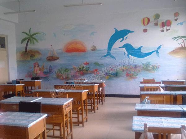童趣的教室墙绘图片