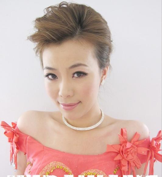 舞台妆主持人发型分享展示图片