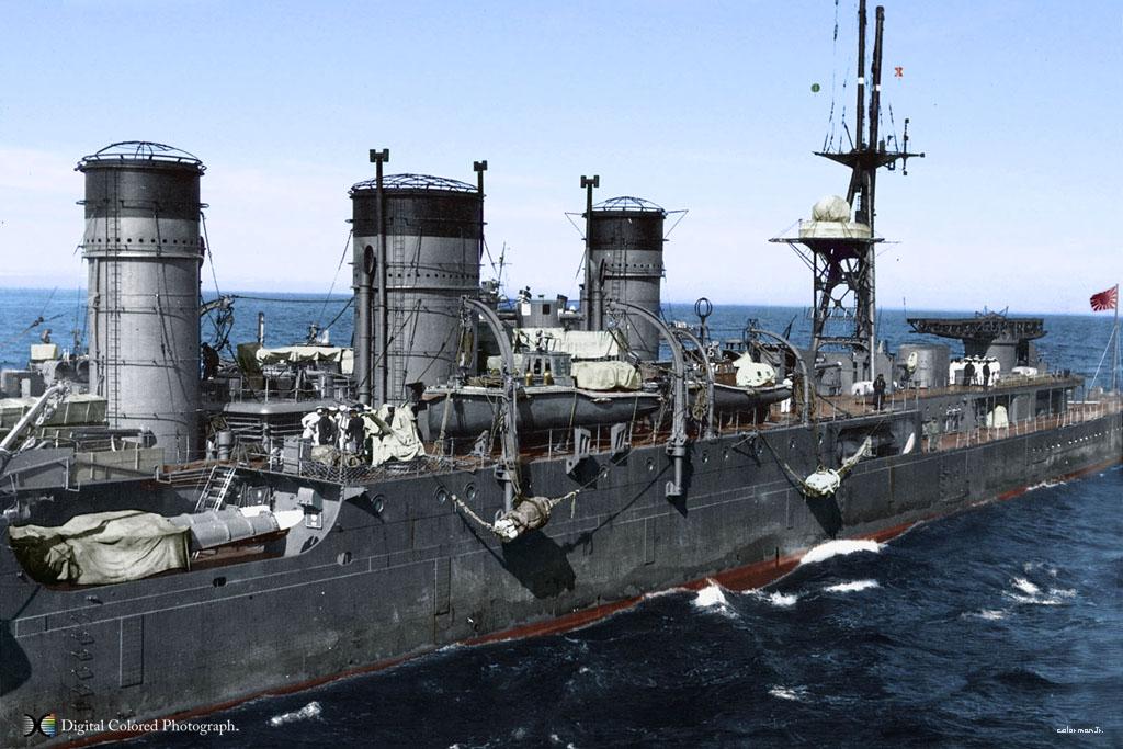 上色的旧日本海军战舰图
