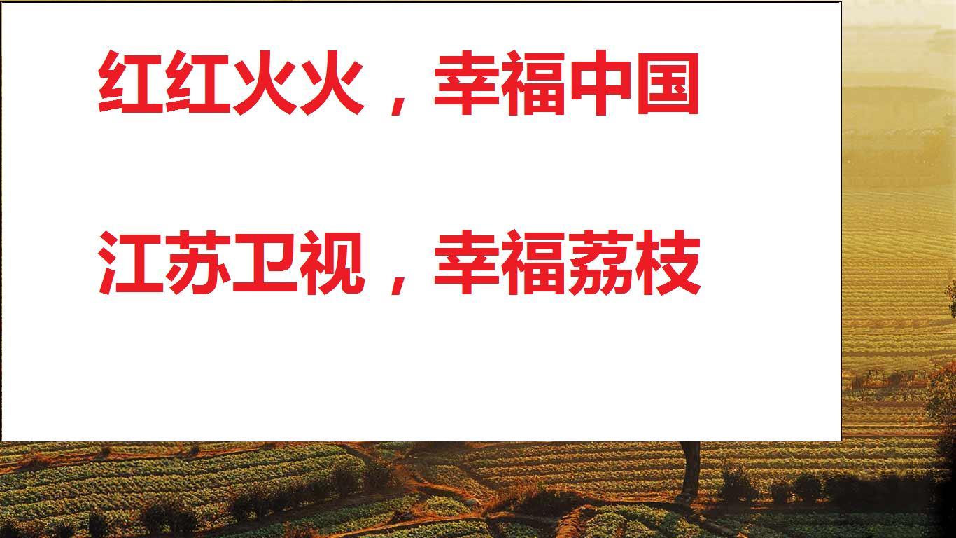 江苏卫视的新年广告语可以改为图片