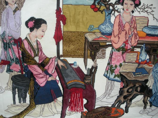 珍爱十字绣《琴棋书画》成品出售图片