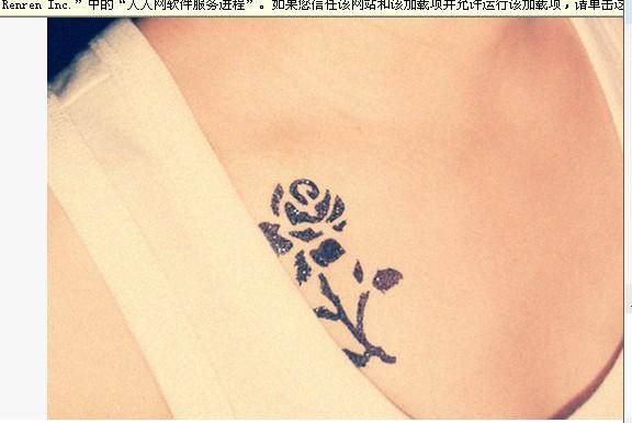 女生纹身纹什么图案好看,纹在哪个位置好呢,?图片