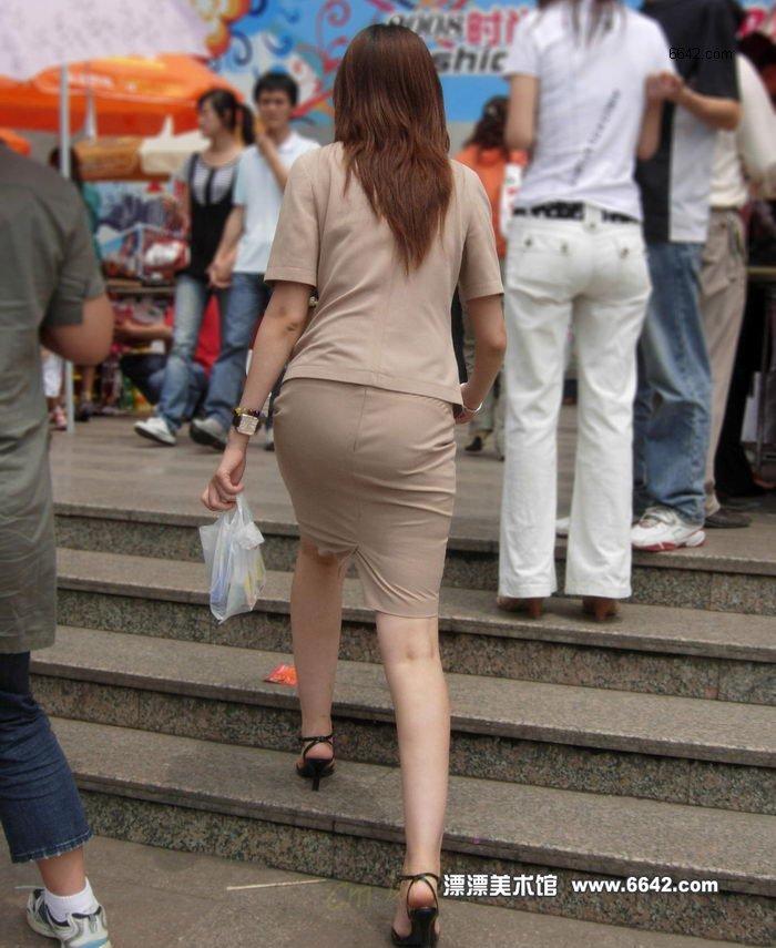 街拍美女大腿合集
