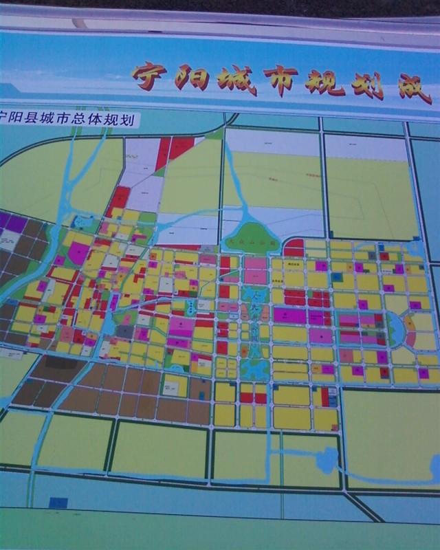 宁阳东部新城规划图 高清图片