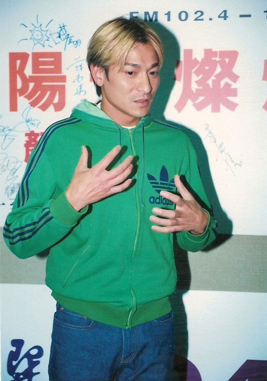 【爱华】刘德华 经典中分金色发型图片