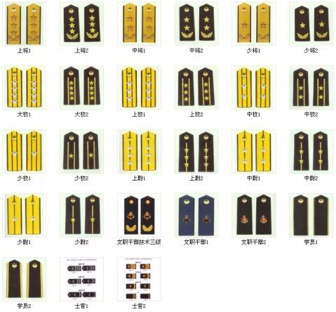 中国部队的军衔 知识贴图片