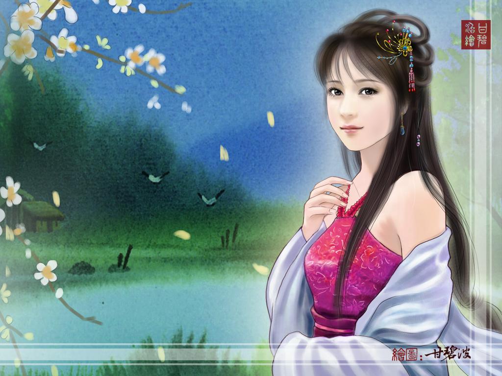 古代美女壁纸手绘古代美女古典美女壁纸古装美女壁纸
