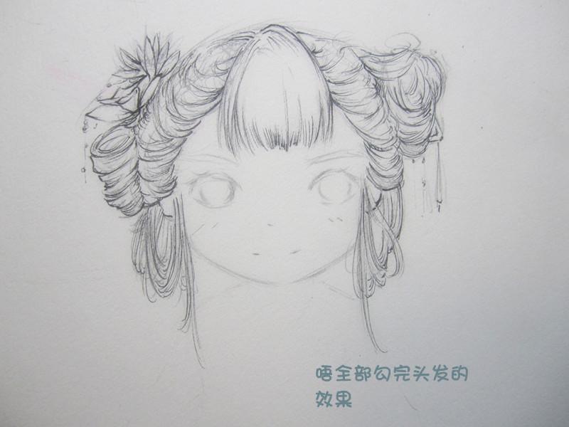古风简单铅笔手绘画图片
