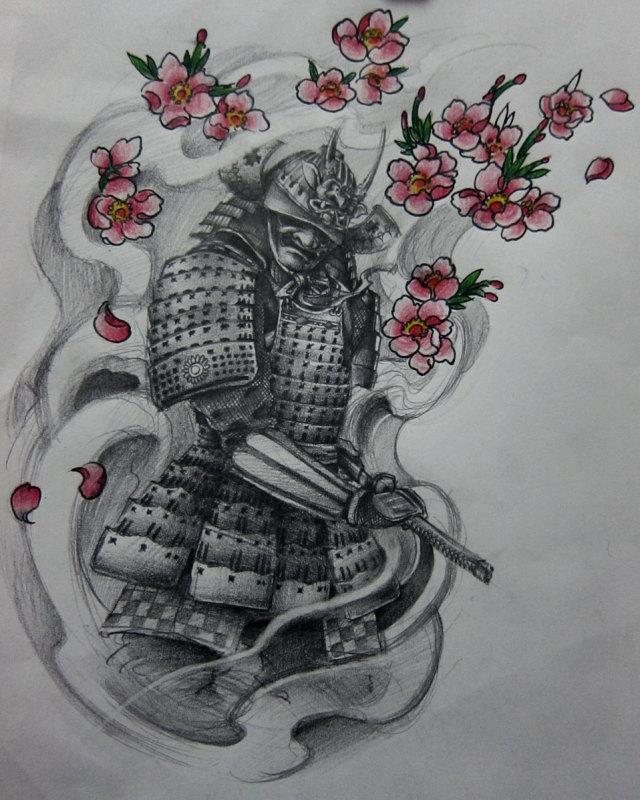 象神鲤鱼莲花花臂纹身图案