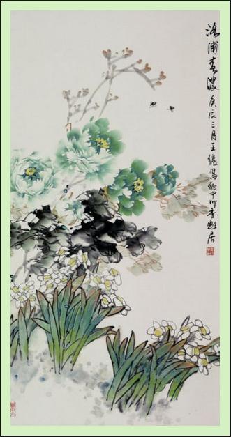 中国画牡丹花画法 牡丹花茶的功效与作用 高清图片