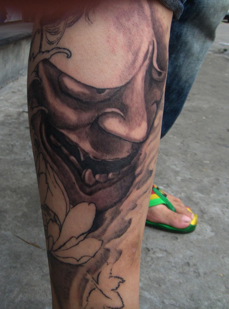 半花腿纹身图案大全男分享展示图片