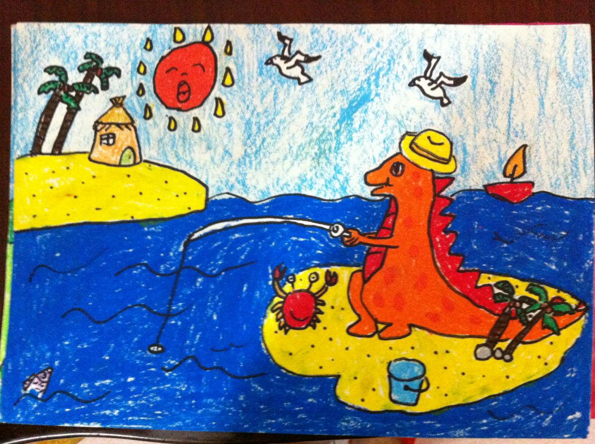 小学生主题绘画作品分享展示图片