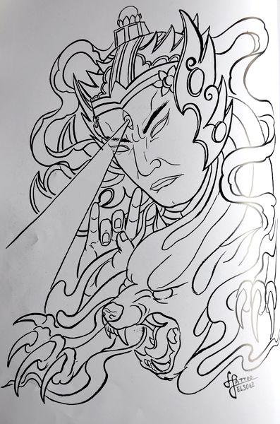 这是我第四本《天津传统纹身手稿》人物篇里的一个图片