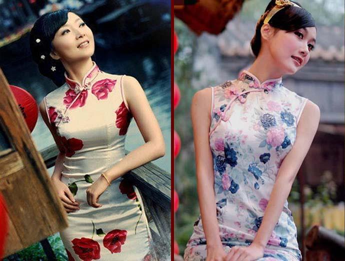 传统旗袍美女高清大图