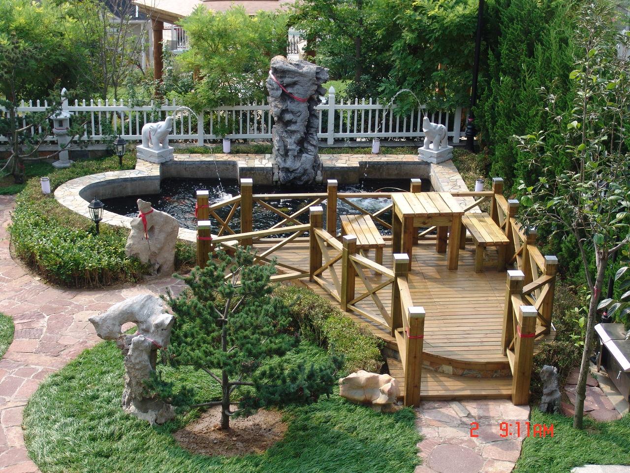 别墅庭院假山鱼池风水内容|别墅庭院假山鱼池风水版面设计图片