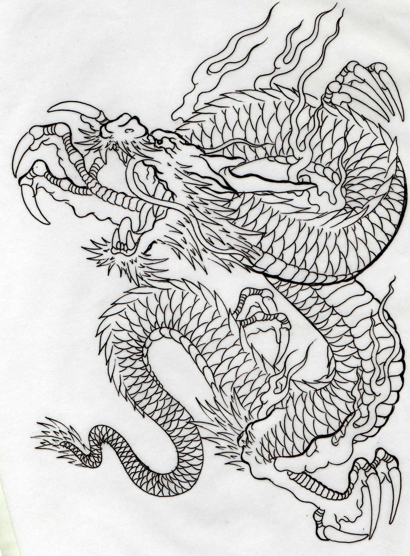 线条优美的荷花手稿纹身图案图片