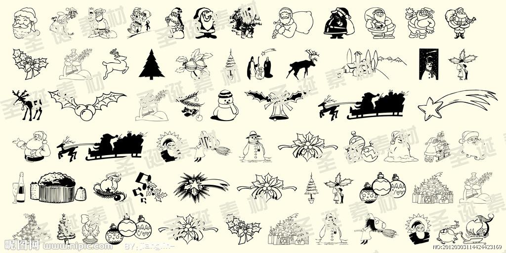 人 简笔画 :平安夜   圣诞礼物 简笔画 [25p]_节日 简笔画 (涂色图片)