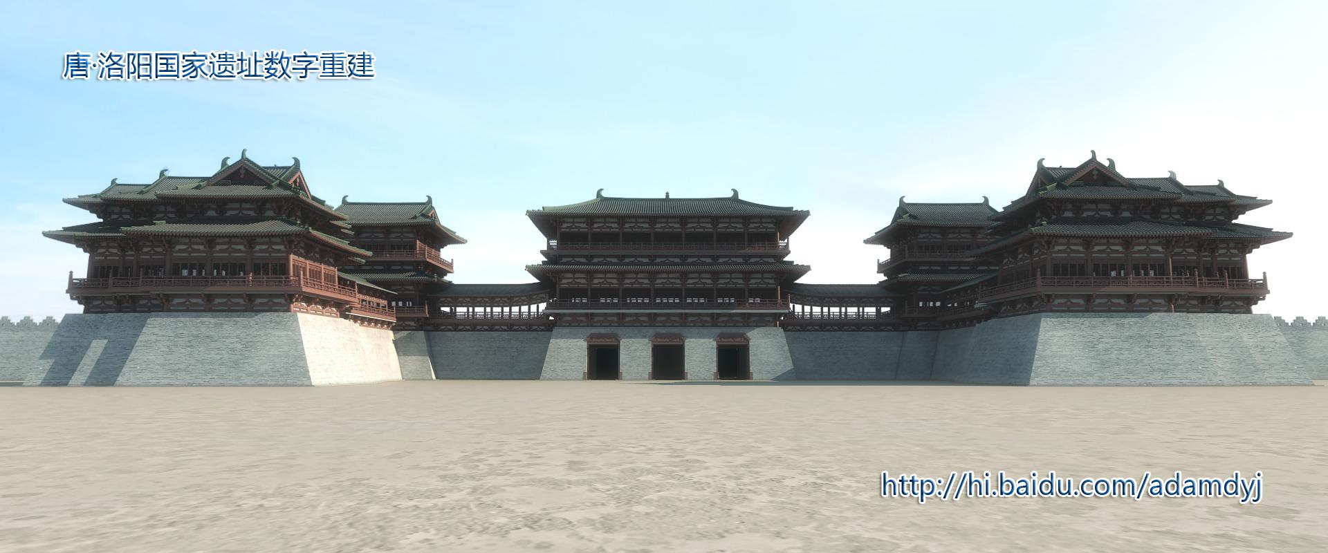中国首座三出阙式宫门-隋唐洛阳皇宫应天门重建工程4图片
