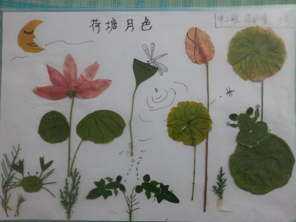 树叶粘贴画_幼儿园吧_百度贴吧图片