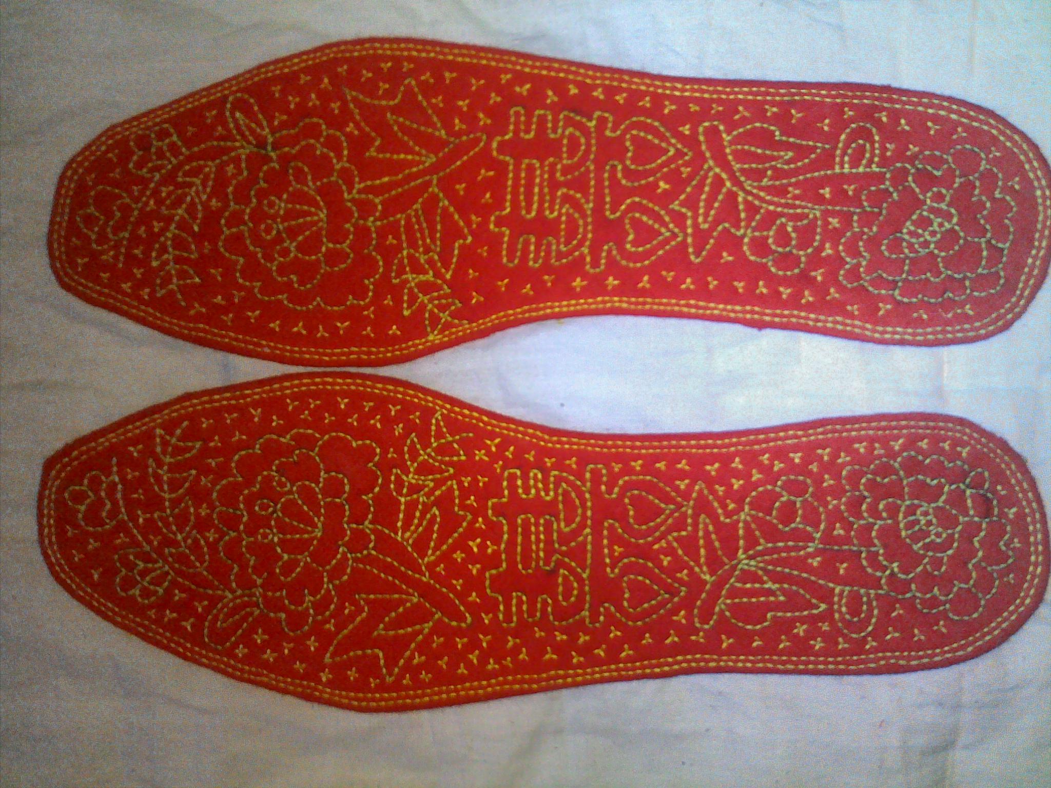 结婚手工鞋垫花样图案