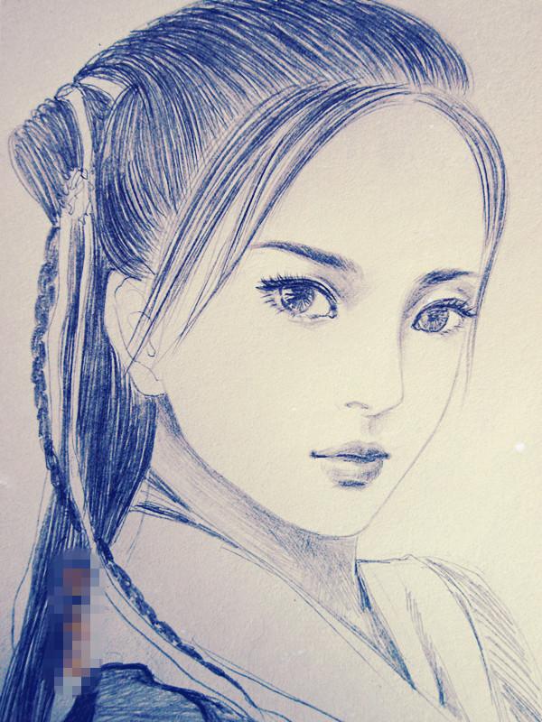 【纯手绘】古装女子 铅笔绘制