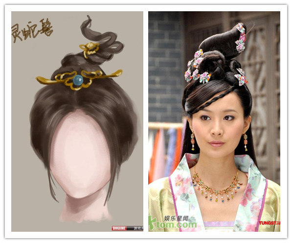 那些古典美女的发型图片