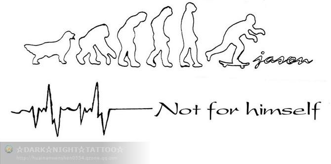 心电图纹身图案大全展示