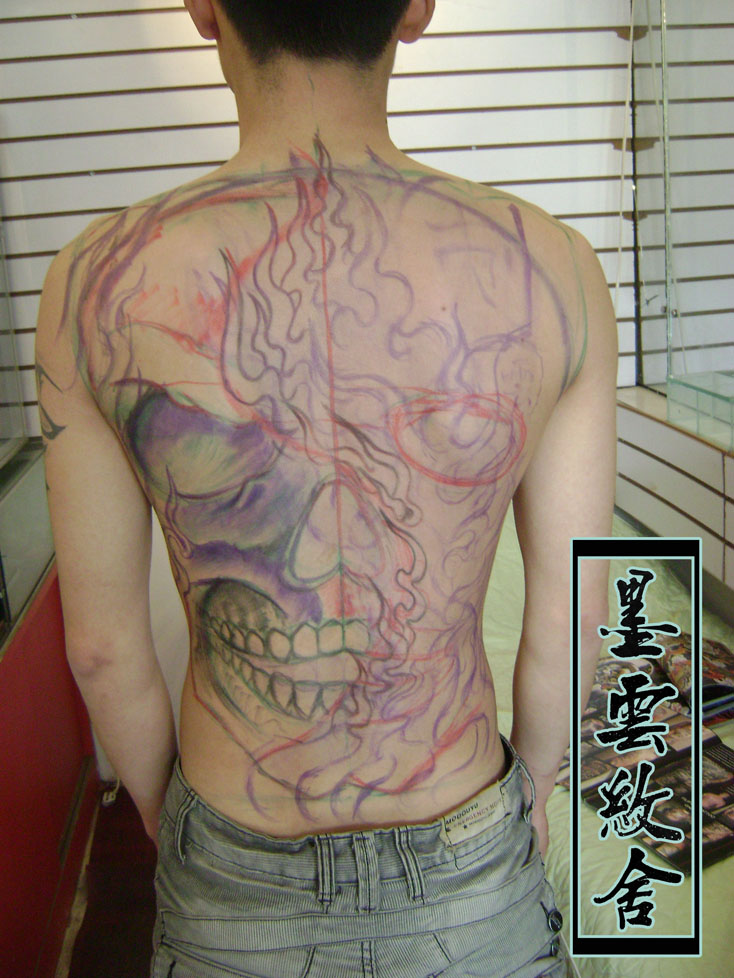 赵云子龙半臂纹身手稿-在线图片图片
