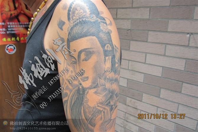 如来佛祖花臂纹身图案分享展示图片