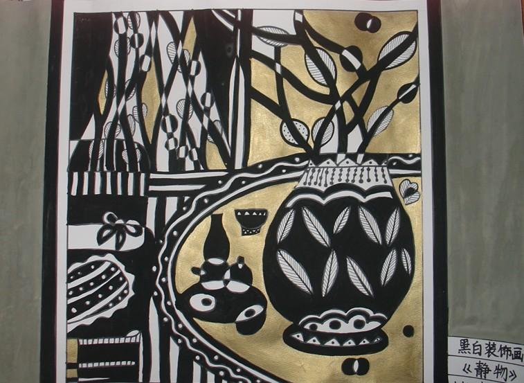 设计鱼黑白装饰画分享展示图片