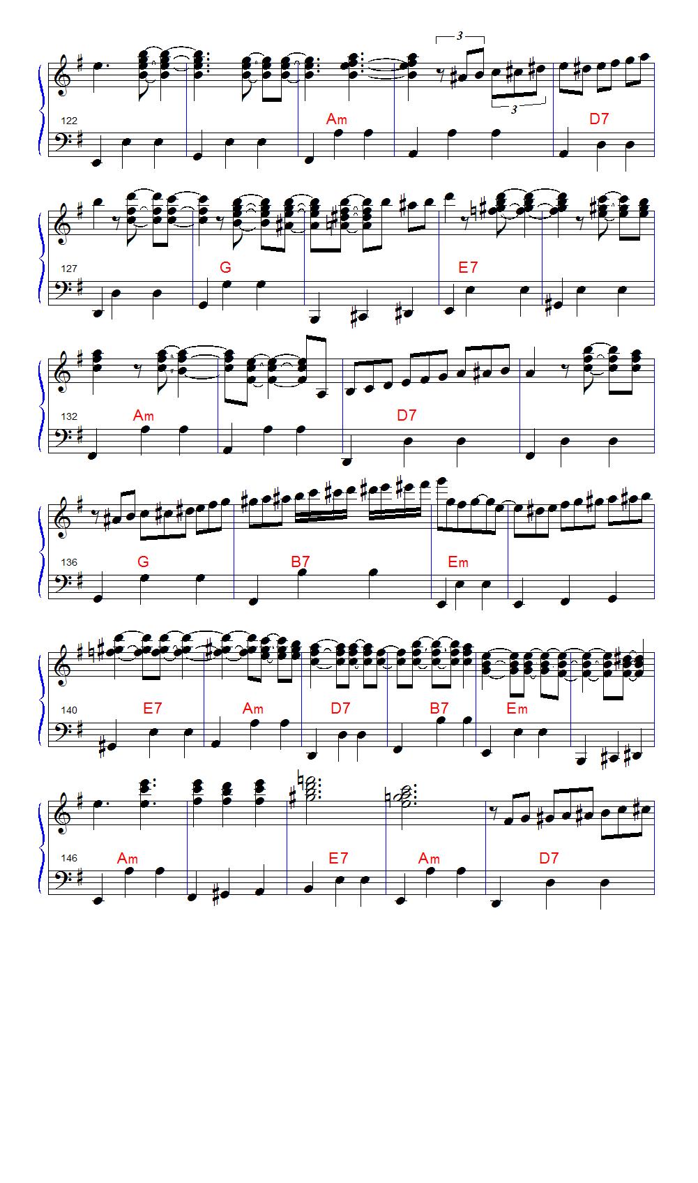 手风琴山楂树曲谱简谱图片