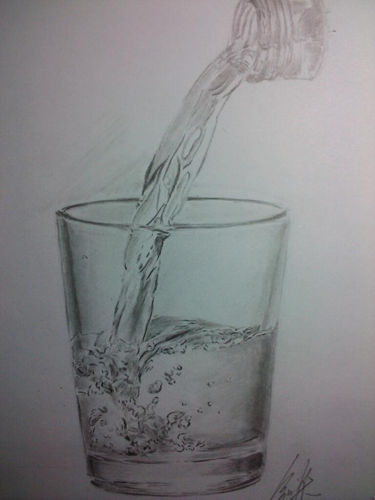 素描杯子图片