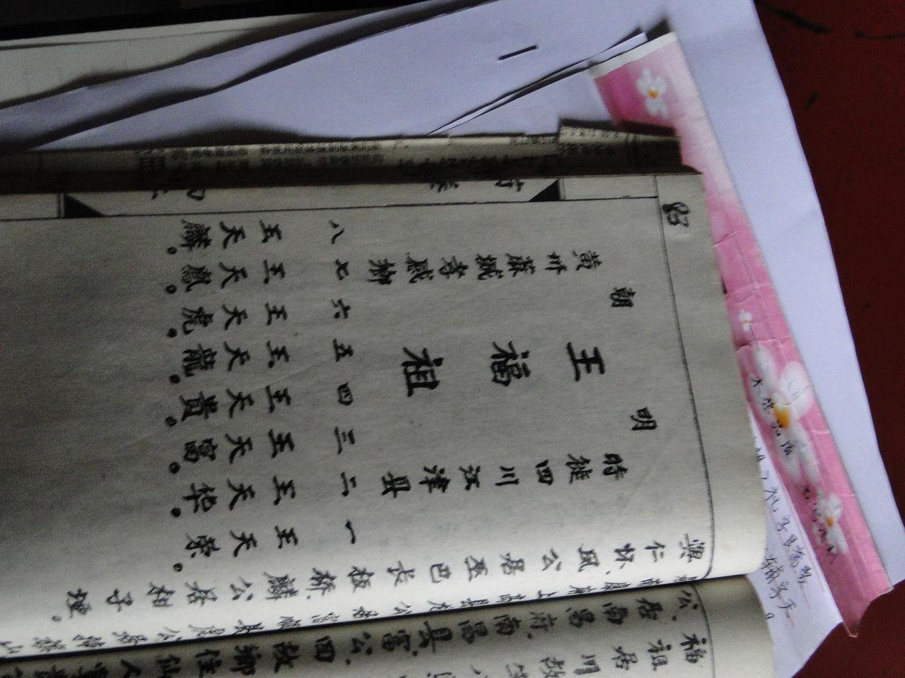 贵州桐梓王氏大修族谱图片