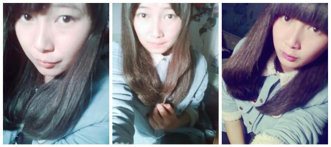 女生齐刘海生活照侧面分享展示图片