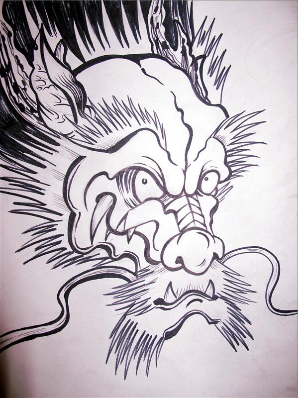 小宇纹身手稿及纹身作品图片